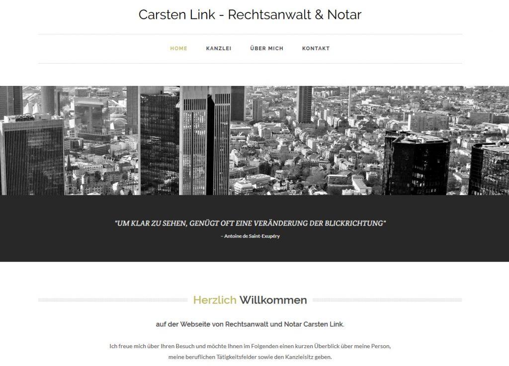 Neue Website von Rechtsanwalt und Notar Carsten Link