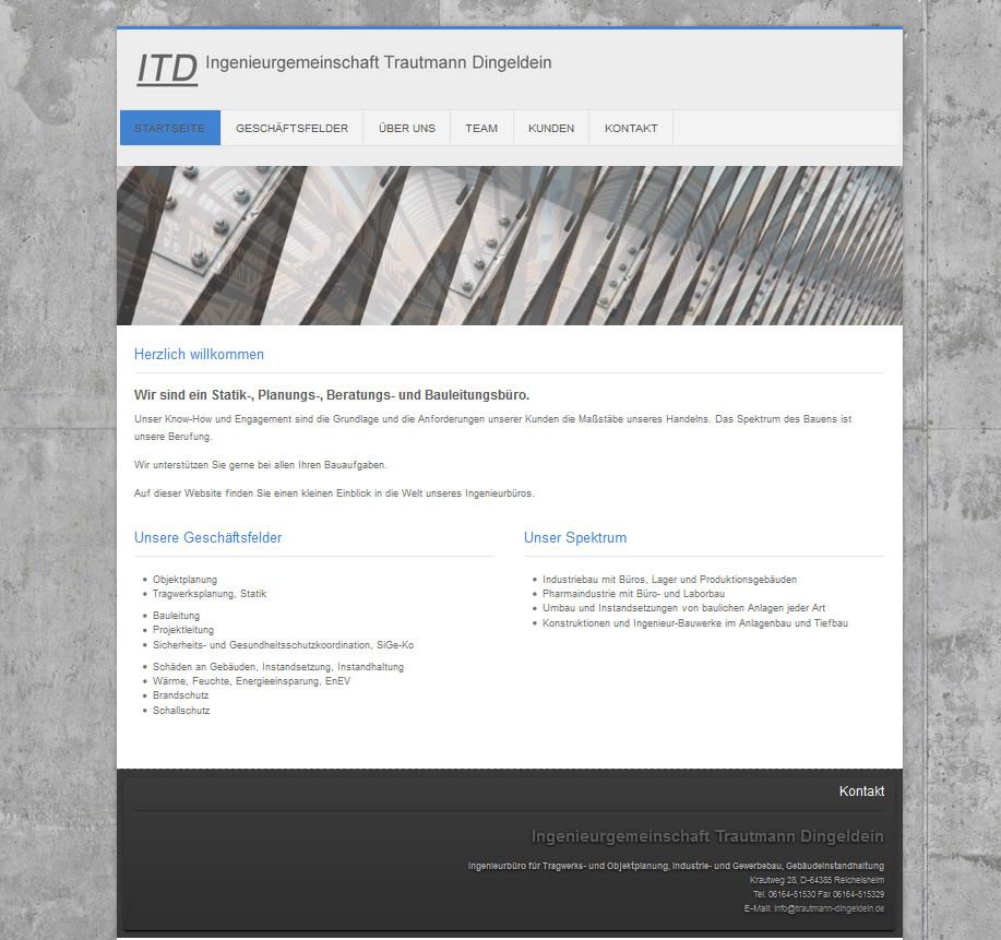 Architektur Webdesign